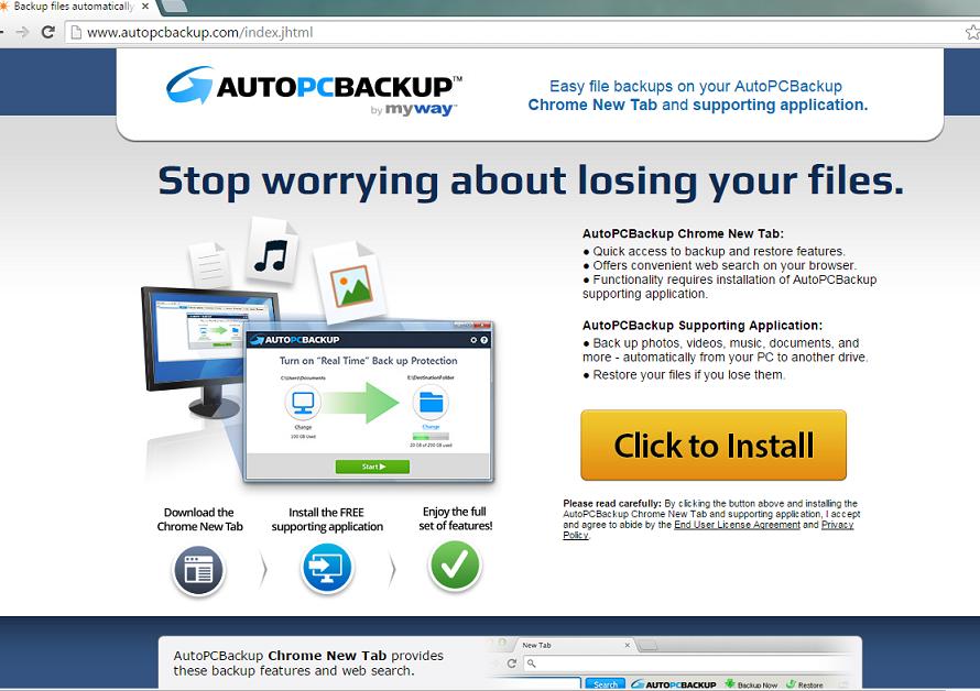 AutoPcBackup Toolbar-