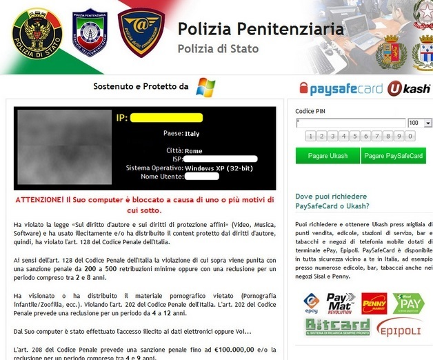 Polizia Penitenziaria Virus-removal