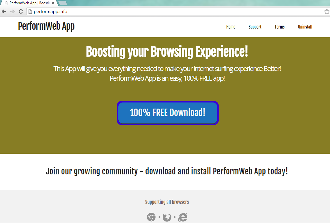 Ads by PerformWeb App-