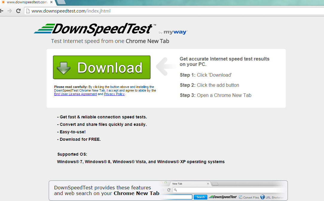 DownSpeedTest Toolbar-removal