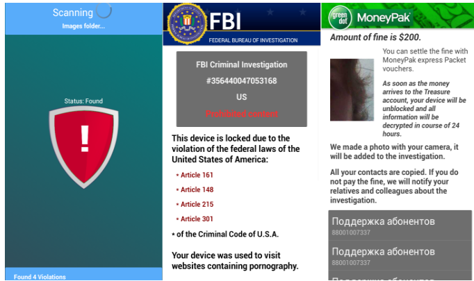 FBI virus from Android phone
