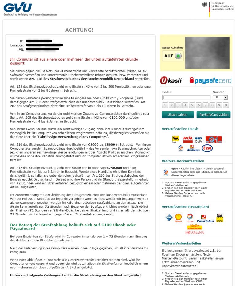 Gesellschaft Zur Verfügung Von Urheberrechtsverletzungen Virus-removal