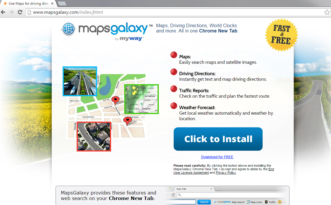 Mapsgalaxy Toolbar-