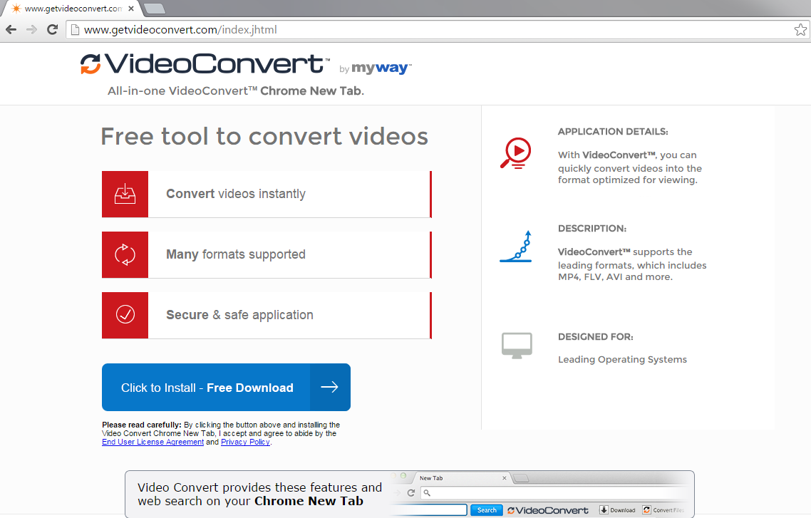 VideoConvert Toolbar-
