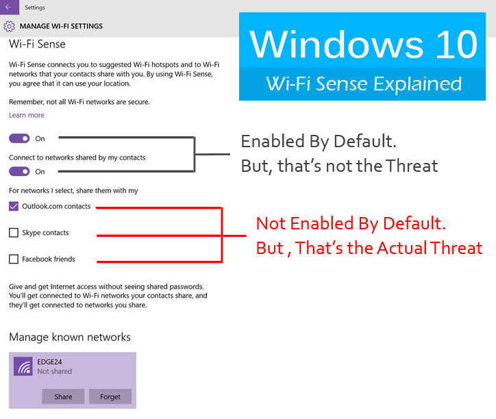 Windows 10 Wi-FI Security Holes