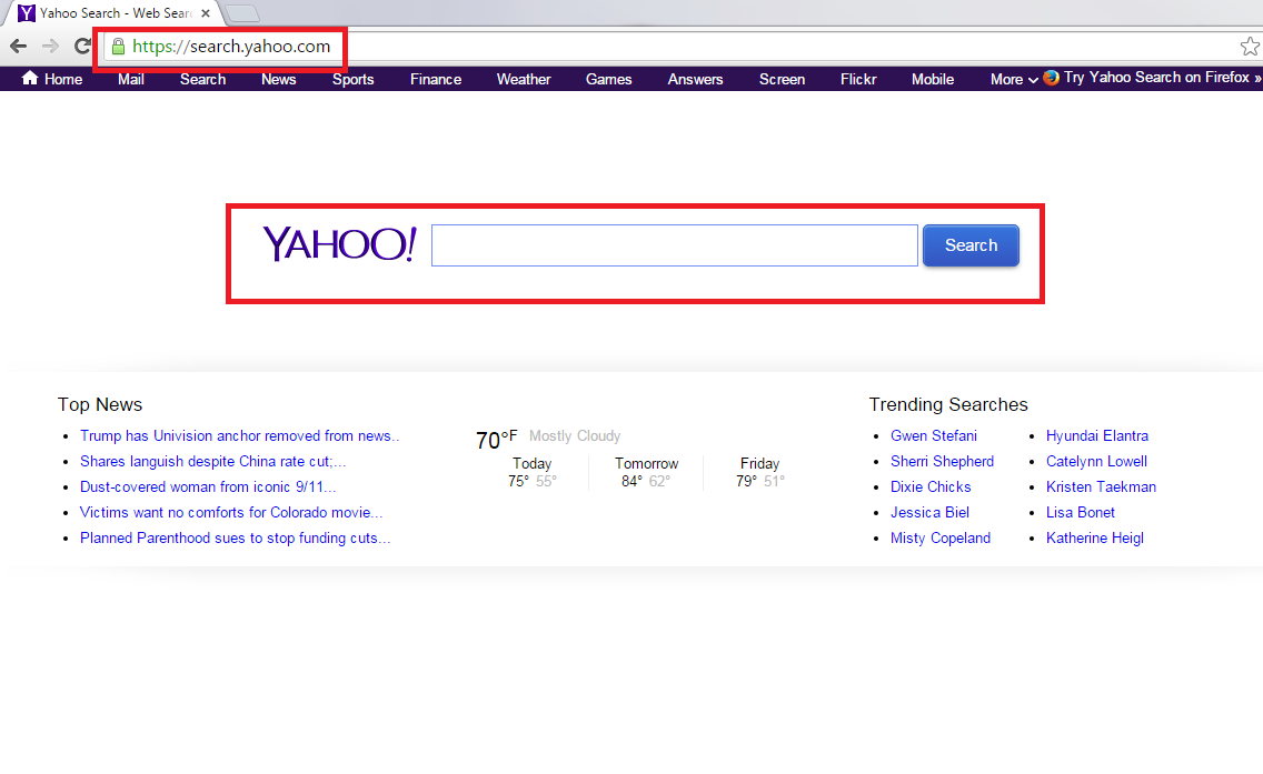Yahoo Redirect Virus-removal