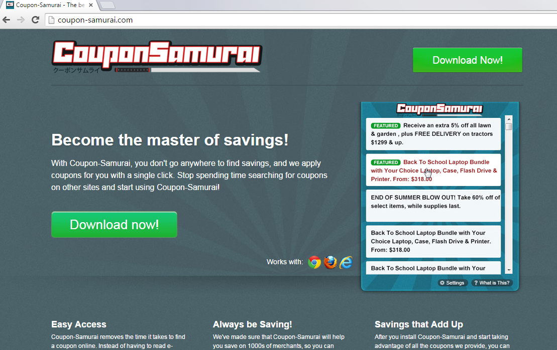Coupon Samurai-