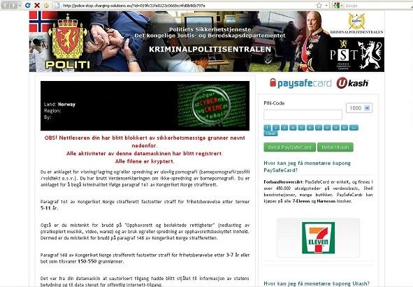 KRIMINALPOLITISENTRALEN virus-