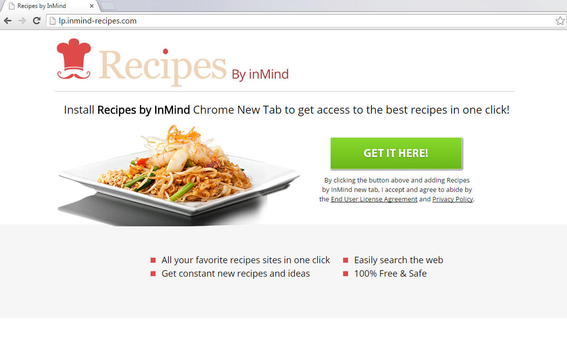 Recipes By inMind New Tab-