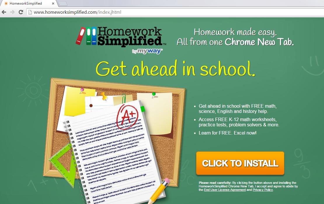 HomeworkSimplified Toolbar-