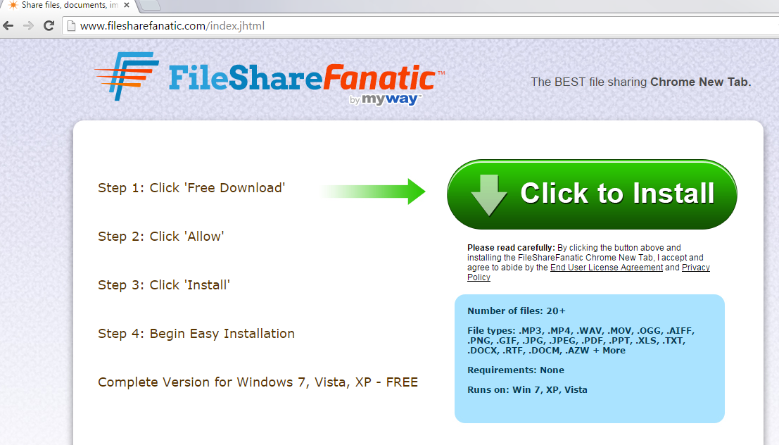 FileShareFanatic Toolbar-