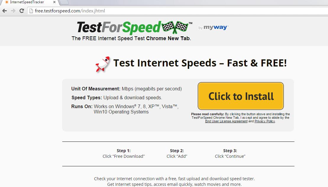 TestForSpeed Toolbar-