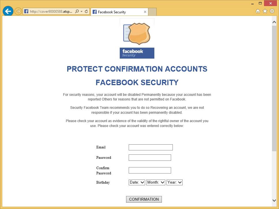 Facebook Security Virus