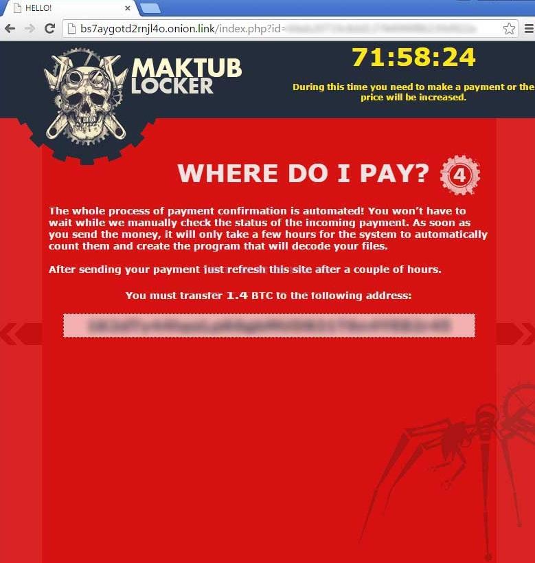 Maktub Ransomware -
