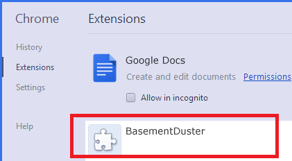 BasementDuster-removal