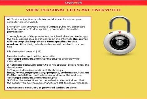 CryptoBit Ransomware-