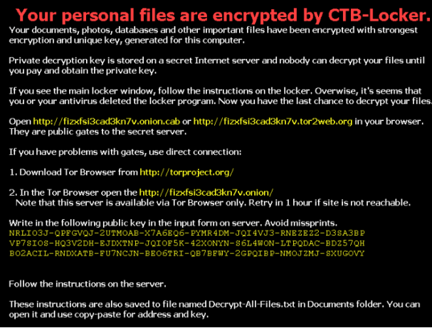 CTB-Locker Virus