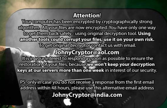 JohnyCryptor-removal