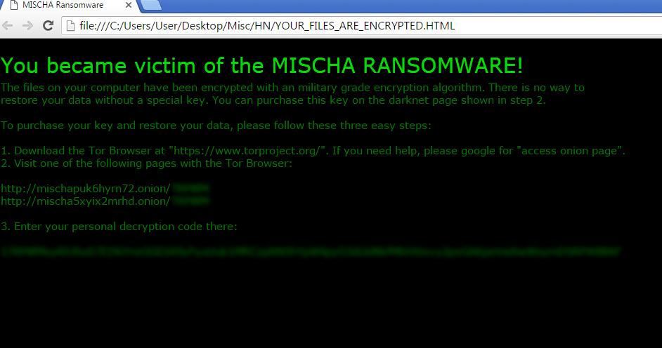 Mischa-ransomware-virus