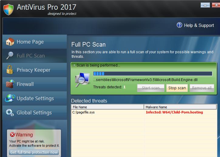 Odstrániť Antivirus Pro 2017