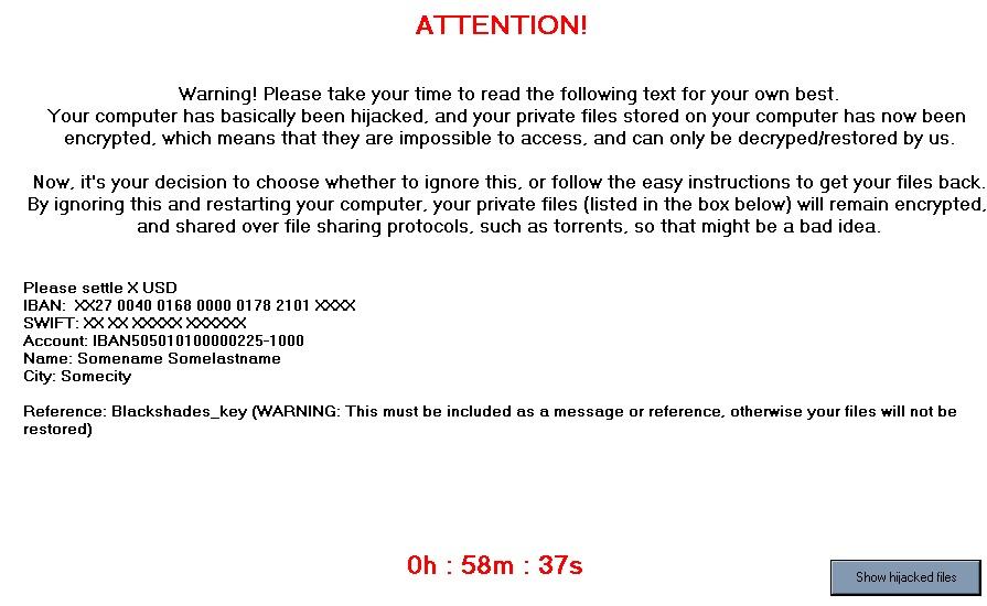 Black Shades virus-