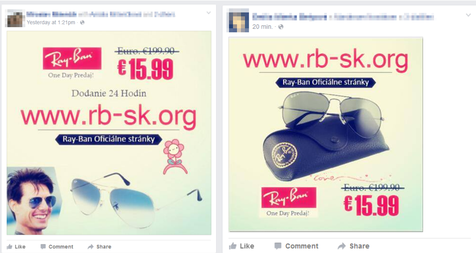 Facebook Ray Ban Virus
