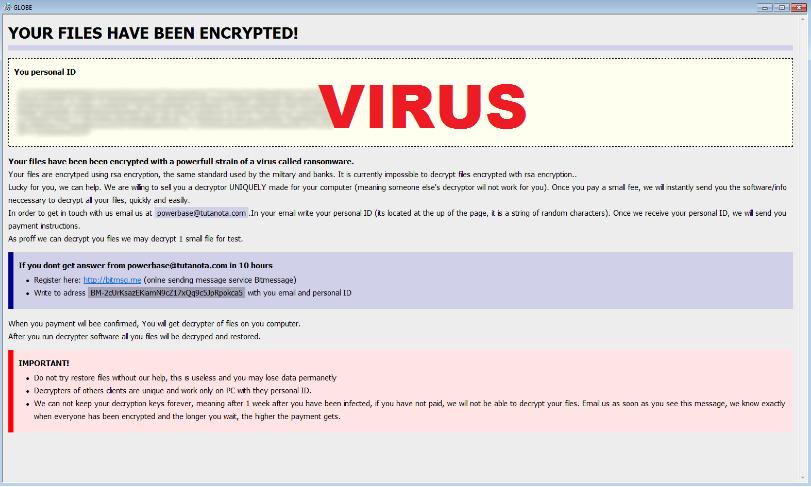 Globe Locker virus removal