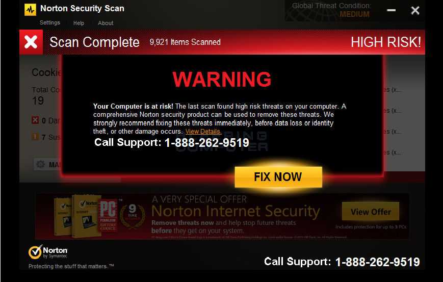 Norton Security Scan Tech Support virus
