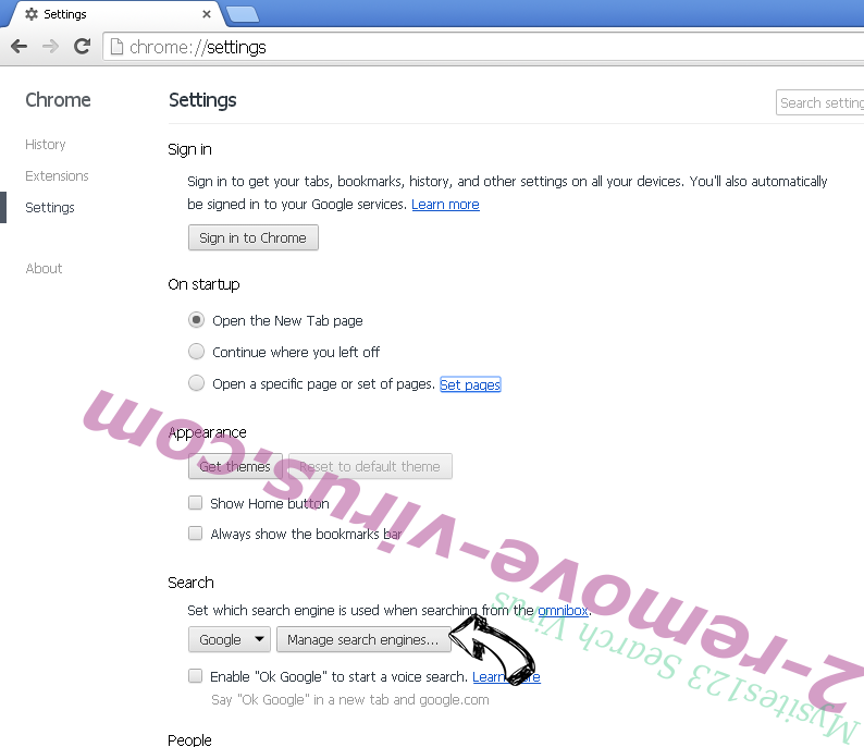 ChromeSearch.club Chrome extensions disable