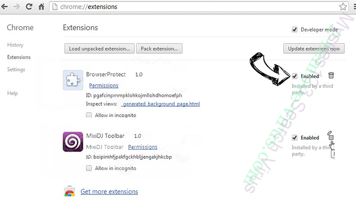 My Quick Converter Virus Chrome extensions disable