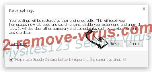 My Quick Converter Virus Chrome reset