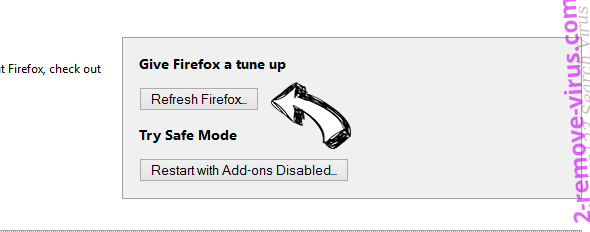 Search.searchltto.com Firefox reset
