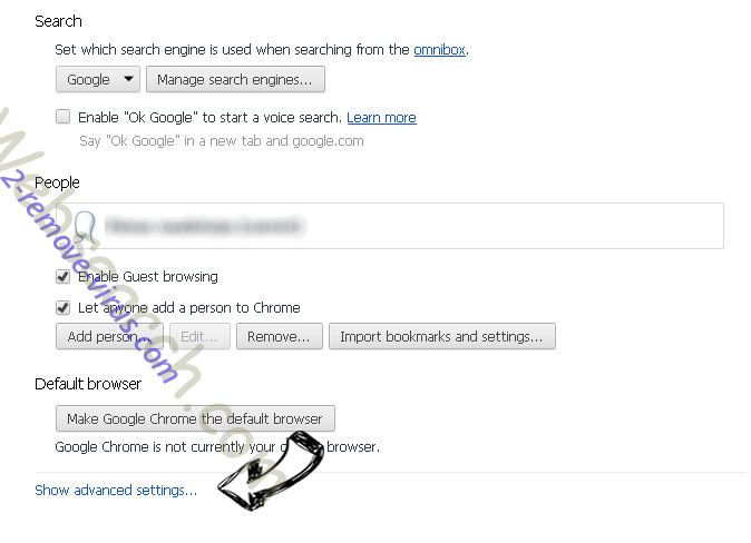 Inet123.ru Chrome settings more