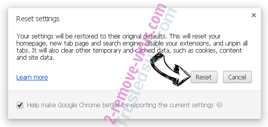 Note Homepage by MyWay Chrome reset