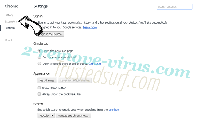 Trustedsurf.com Chrome settings