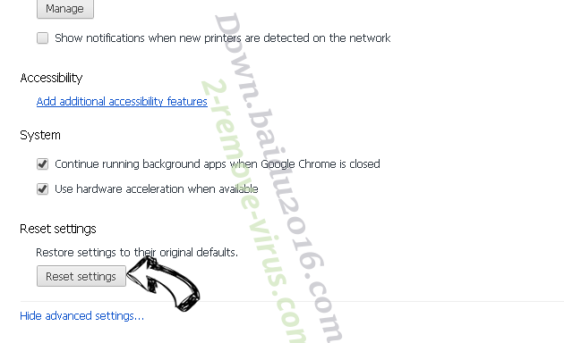 Game Jungle Browser Hijacker Chrome advanced menu