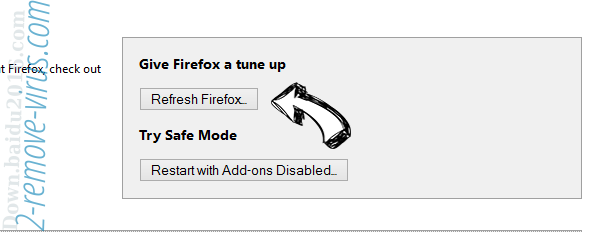 One Click PC Cleaner ads Firefox reset