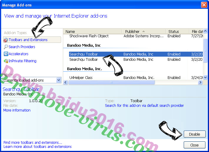 Search.smacklek.com IE toolbars and extensions