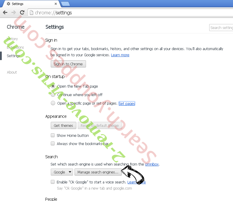 Rdr.harbwire.com entfernen Chrome extensions disable