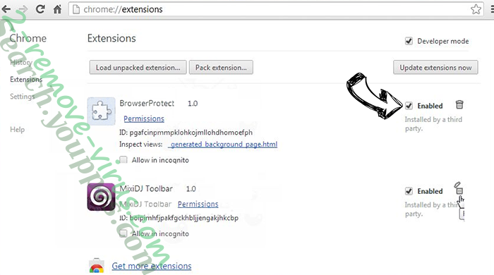 Search-Privacy.store  Chrome extensions disable