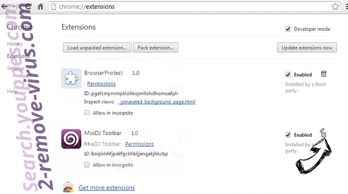 Search-Privacy.store  Chrome extensions remove