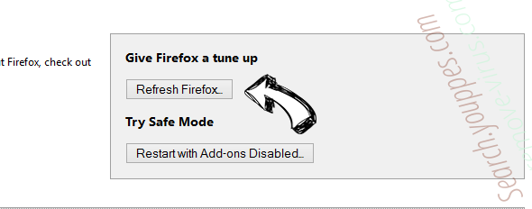 Lucky Starting Virus Firefox reset