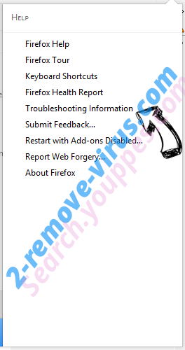 Lucky Starting Virus Firefox troubleshooting