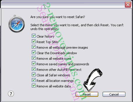 Lucky Starting Virus Safari reset