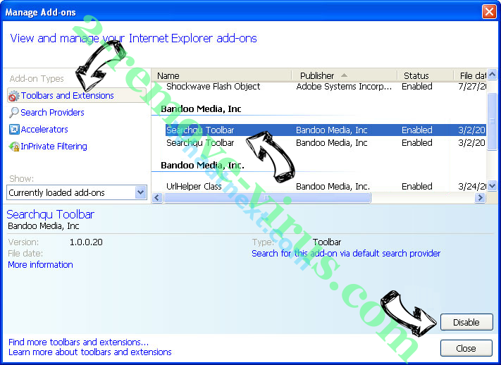 Search.searchwrf.com IE toolbars and extensions