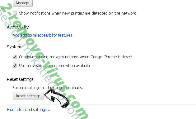 Googlescan.ru Chrome advanced menu