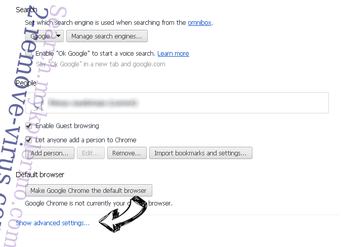 Mybeginning123.com Chrome settings more