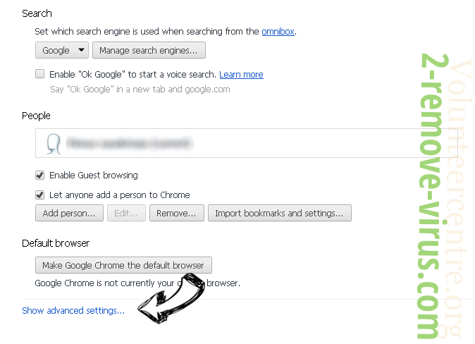 Search-Results.com Chrome settings more
