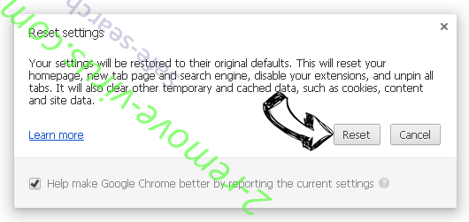Rimuovere Pt21na.com Pop-up Chrome reset
