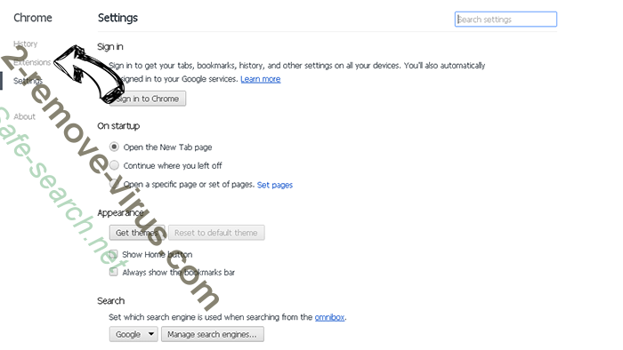 Pt21na.com Pop-up entfernen Chrome settings